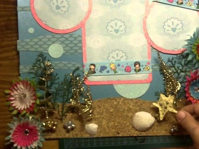 Disney Ariel Princess Little Mermaid 3D Scrapbooking Page Layout Cricut Dreams Can Come True