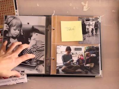 Disneyland 2013 Scrapbook Album   The Start