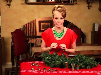 How to Hang Christmas Garland on Brick : Christmas Flare Decorations