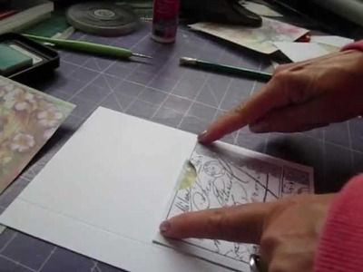 How to make the double pocket page - vintage mini album