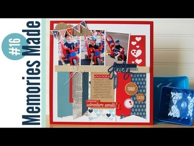 Memories Made #16 Scrapbooking Process Video: July Parade