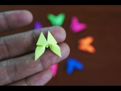 Mini Origami - How to make Mini Butterfly Origami
