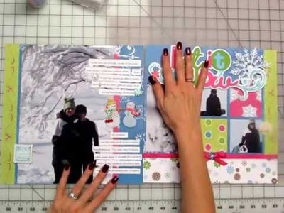 Power Scrapbooking Layouts Video 12: 12x24 Winter Layouts and a Trick