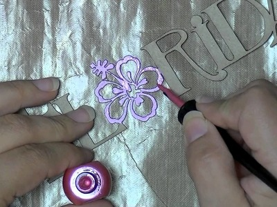 Quick tips for chipboard: paint, smooch, glossy accents