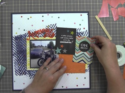 Scrapbook Process Video: Boys and Their Toys