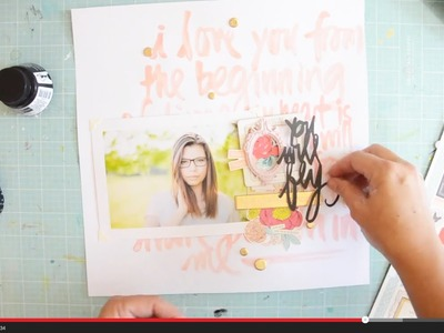 Scrapbook Process Video with Wilna You will fly