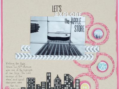 Scrapbooking Process: Let's Explore the Apple Store