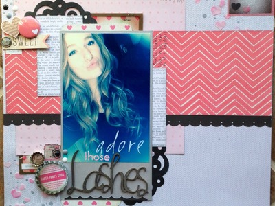Scrapbooking Process Video 002:  Adore Those Lashes