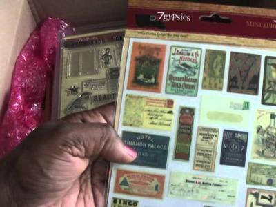 Scrapbooking: Vintage Envelope Mini Album and A Small Haul
