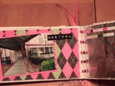 Super mini paper bag scrapbook
