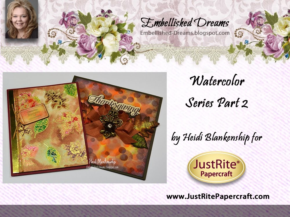 Watercolor Series Part 2 - Twinkiling H20's and Bokeh Cards with Distress Ink
