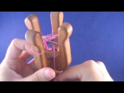Working on a double lucet - Kaksinkertaisen nyörihaarukan käyttö