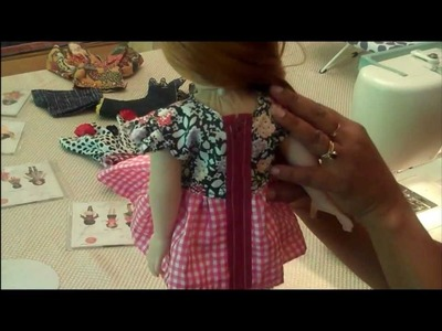 Adding a Simple and Fashionable Zipper to a Doll Dress! - Sewing Tips from The Doll Loft