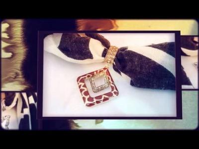 Animal Scarf Jewelry Slides on Animal Print Scarf | Purple Box Jewelry