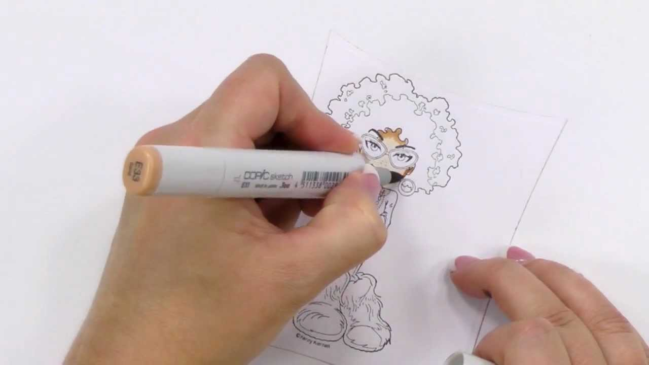Copic Coloring Guide Level 3: People - Copic Marker Project Demonstration