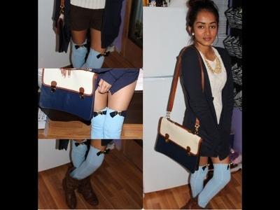 D.I.Y Kneehigh Stocking. Leg Warmer With Bows