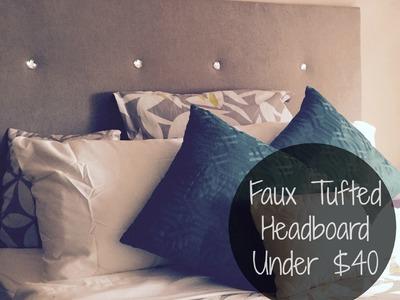 Do-It-Yo'Self | Faux Tufted Headboard Under $40 (EASY)