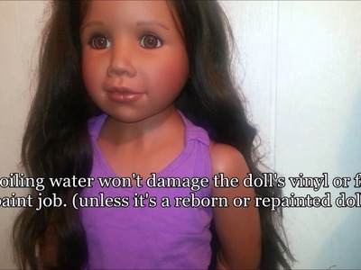 Doll Hair Repair 2 Week Update: with life sized doll Sixx (Masterpiece Dolls)