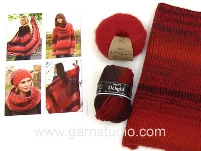 DROPS Technique Tutorial: Alternative yarn: Verdi = Delight and Brushed Alpaca Silk – Red.Black