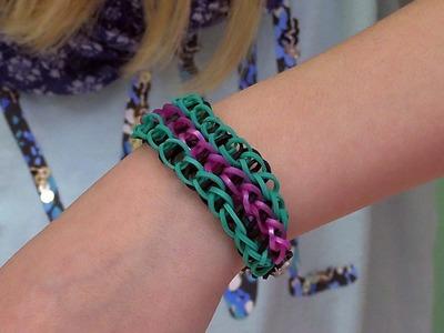 Easy Rainbow Loom Project: How to Make a Triple Single Bracelet