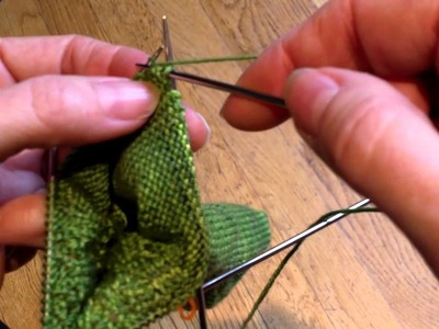 Gumdrop Socks--Short Row Heel Part 1-1.1