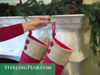 How to hang stockings with The Original MantleClip