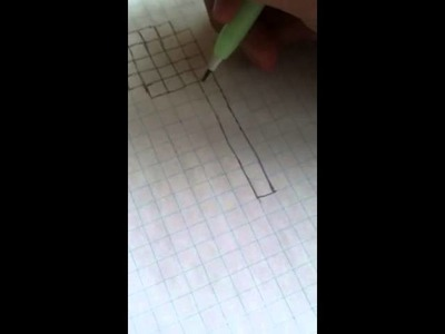 How to make a heart out of graph paper