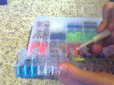 How to make a quadruple single rainbow loom