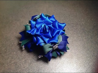 HOW TO: Make a rose hair bow NO SEW