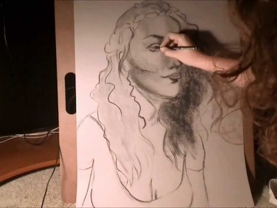 Speed Drawing - Charcoal Self Portrait