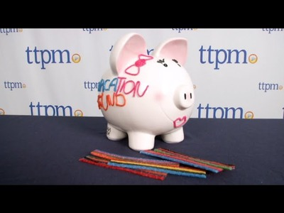 Wikki Stix One of a Kind Designer Piggy Bank from Omnicor