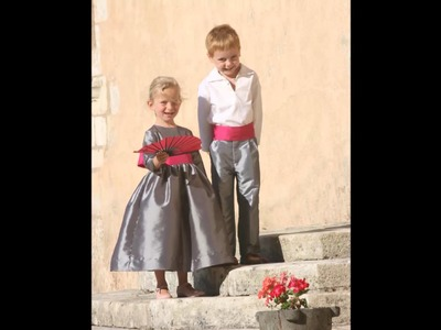 Winter flower girl dresses and page boy outfits by Little Eglantine