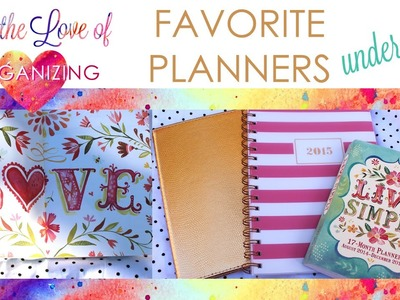 Best Planners Under $20: Sugar Paper, Katie Daisy | For the Love of Organizing