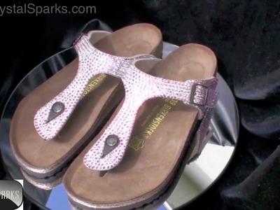 Custom Crystal Birkenstock Sandals Made with Swarovski ™ Elements AB Strass