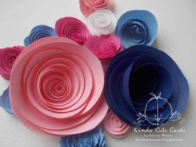 Flores de papel enrolladas. Tutorial. Rolled paper flowers.