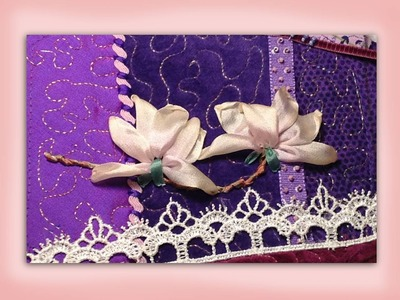 How to embroider a silk ribbon magnolia flower