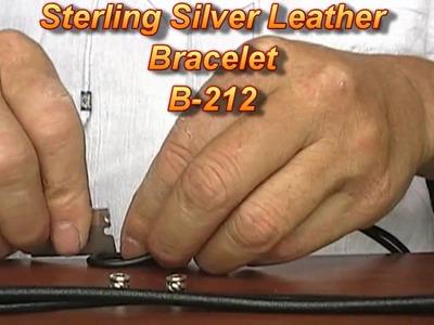 How to make Leather Men Bracelet B-212