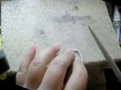 How to make silver ring using square wire Part 2