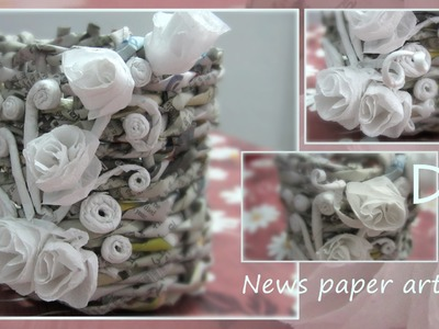 Pen holder: recycled newspaper craft: part 1