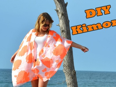 DIY Dollar Store Scarf to Kimono Tutorial