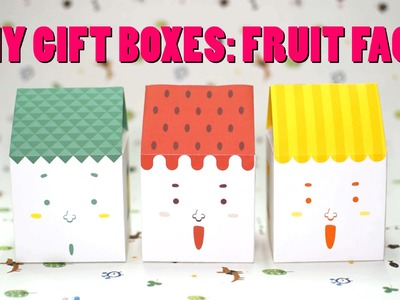 DIY Gift Box Tutorial: Fruit Face House