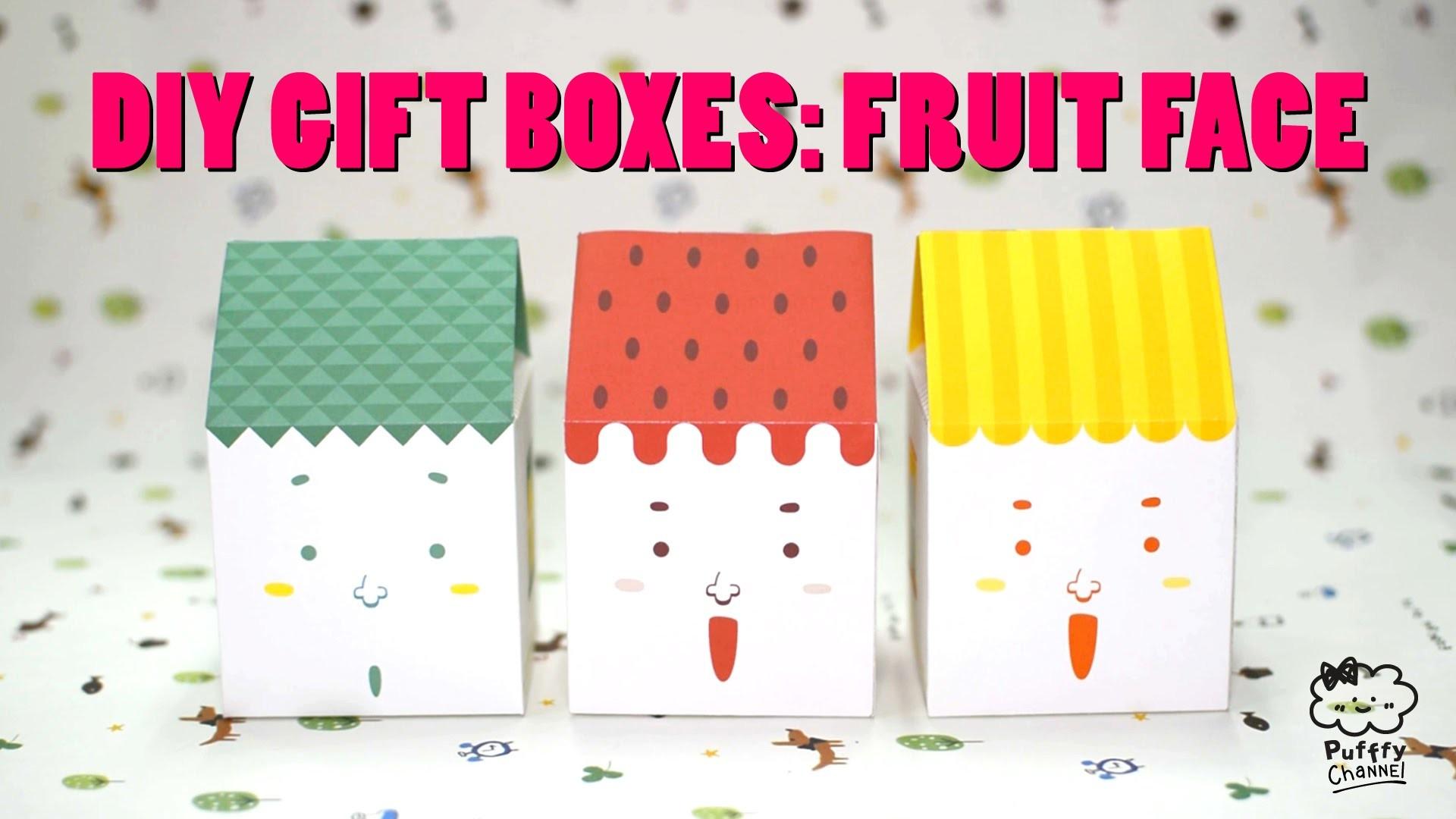 DIY Gift Box Tutorial: Fruit Face House
