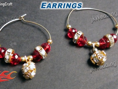 DIY How to make Hoop Earrings ( Jewelry Making)  - JK Wedding Craft 008