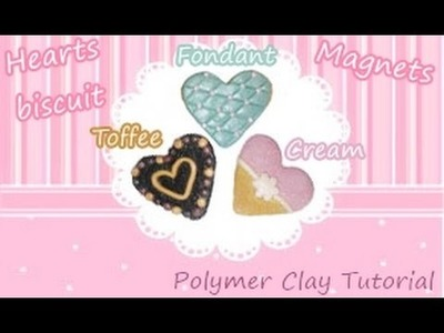 Heart BISCUIT Polymer Clay Tutorial (MAGNET)