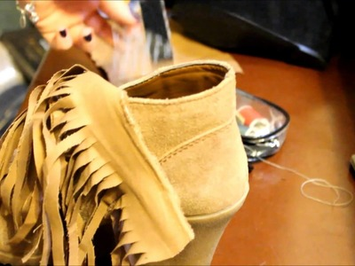 HOW TO MAKE FRINGE BOOTIES!