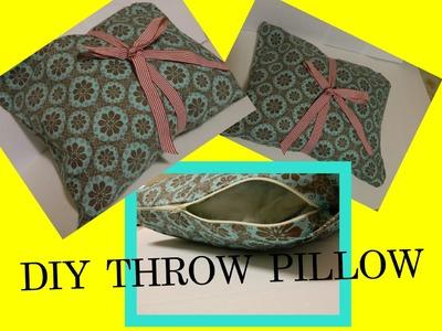 NO SEW Pillow with a ZIPPER | DIY