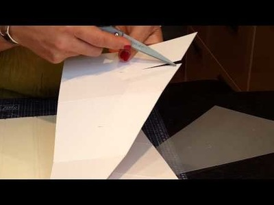 Paula Walters  Which Craft?   'Cascading Card Template'  How to 1
