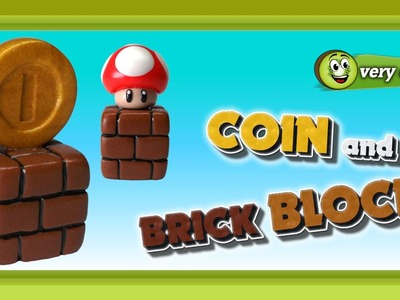 Polymer Clay Fimo - Coin and Brick Block - *very easy Tutorial*