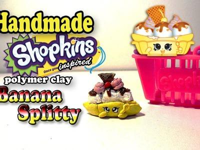 Season 2 Shopkins: How To Make Banana Splitty Polymer Clay Tutorial!