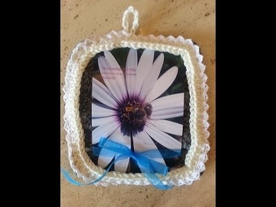 Crochet Quick and Easy Beginner Picture Frame DIY Tutorial